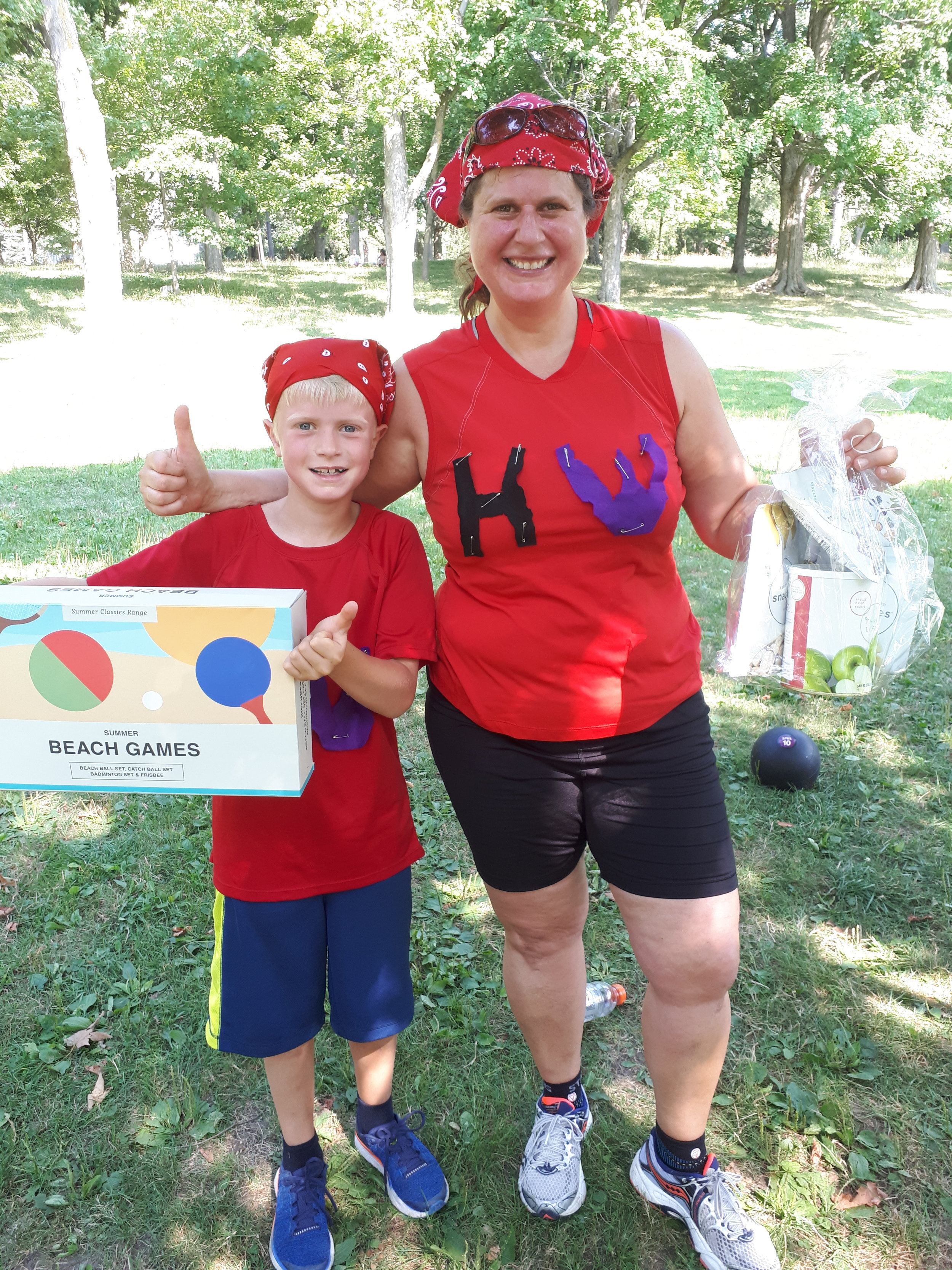 Shari and her son, Ben, who won first place at our Summer Loyobo FIT Games last August!