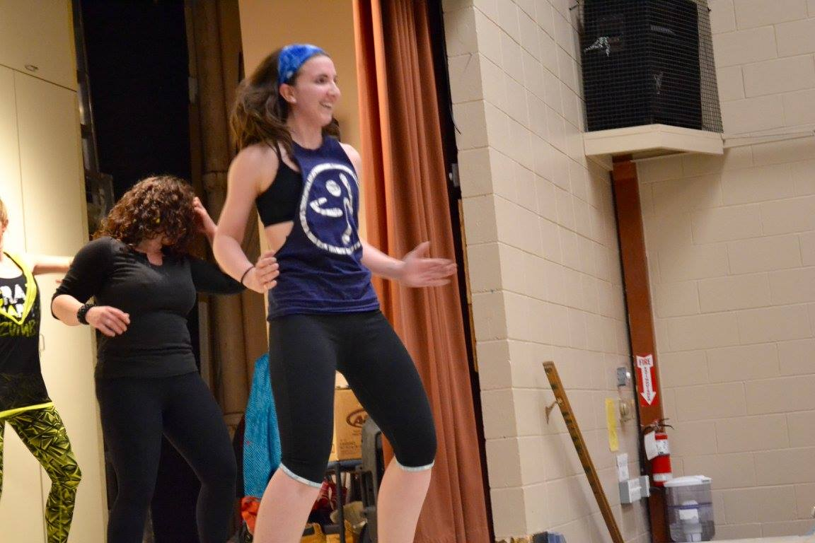 My first time teaching at a Zumbathon in 2016.