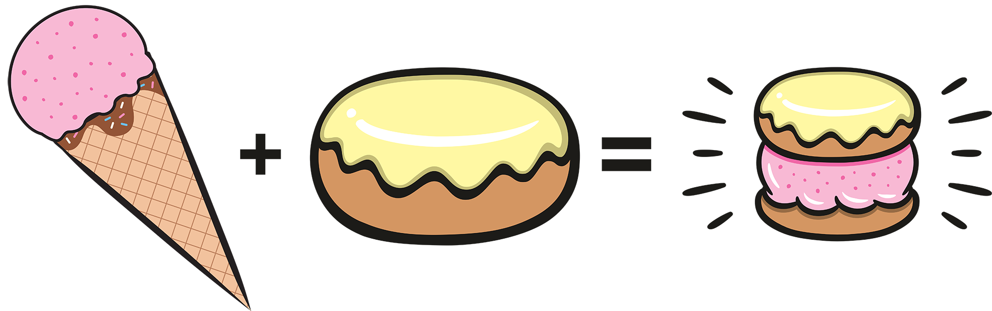 Stuffed Ice Cream Scoops Glaze Donut Cruff