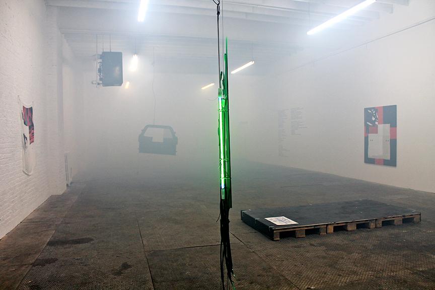 """Installation view, """"Fissure : Fog"""""""