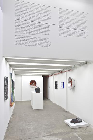 """Installation view, """"Kayla Guthrie, William J. O'Brien, McKeever Donovan, Annabeth Marks"""""""