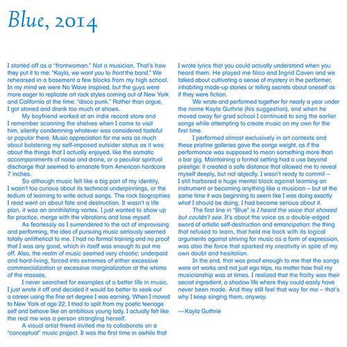 """""""Blue"""" insert essay"""
