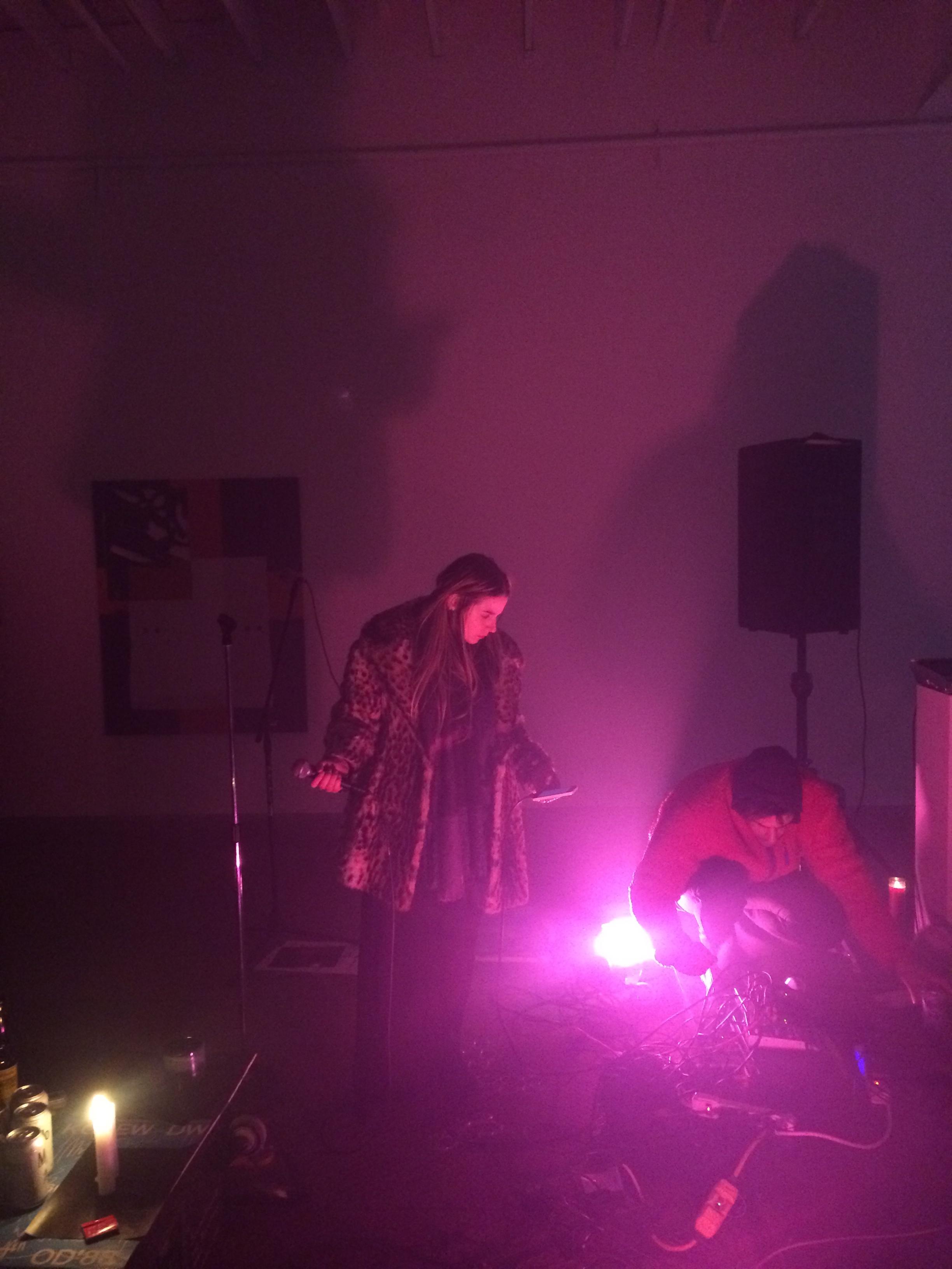 """Round Robin"" performance with Nikholis Planck, Flannery Silva, Roseboy, Elspeth Walker"
