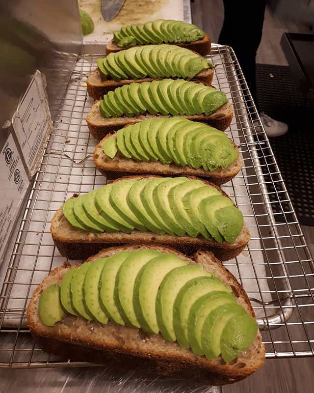 Pushing out Beautiful Avocado-on-Toasts like no Tomorrow! Come to try them yourself with our Famous Preserve! . . . #cafe #deepcove #vancouver #coffeeculture #coffee #avocado  #millenials