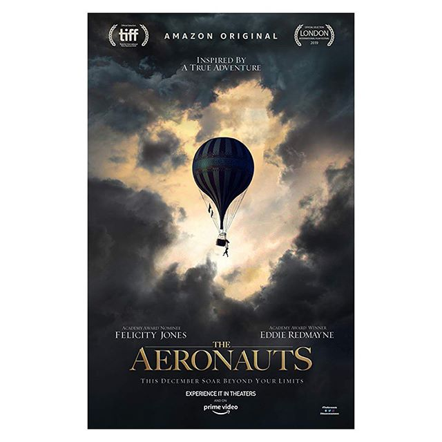 The Aeronauts. My first feature film in charge of production sound. Very proud of this one. Thank you 1st Assistant Sound Pete Davis @44chucks, 2nd Assistant Sound Gwen Sena @gsenasound & 3rd Assistant Sound Keith Morrison @kmorrisonsound. Best crew ever. 💕
