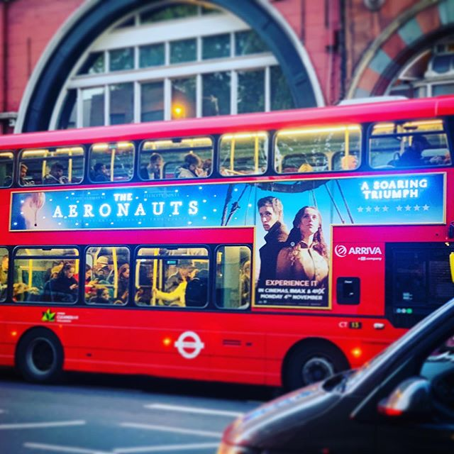 Twinkly light bus advertising! Very proud. Please go and see 'The Aeronauts'. My first Feature film at the faders. Excited to see in IMAX. It's epic!