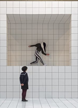 Josh-Susan Enright performs in  Anthea Hamilton's Tate Britain Commission 2018.   Until 7 October 2018