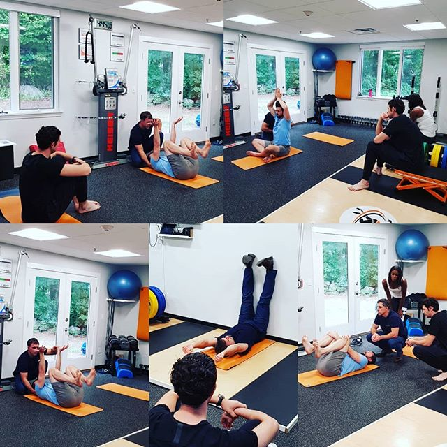 Final ELDOA positions being taught at Boston ELDOA Level 1 Certification course.  #eldoa #eldoausa #eldoamethod #eldoaeveryday