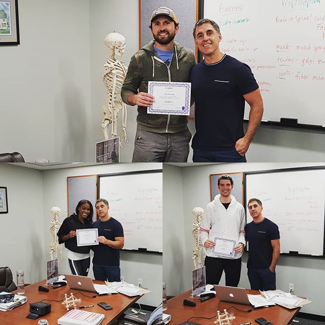 First graduates from Boston ELDOA Level 1 Certification course.  Great weekend with tutor Joe Hayes. @pro_massage__bodywork_cape_cod @carlinemuir @jdfavs @andyjburkeuk #eldoa #eldoamethod #eldoausa