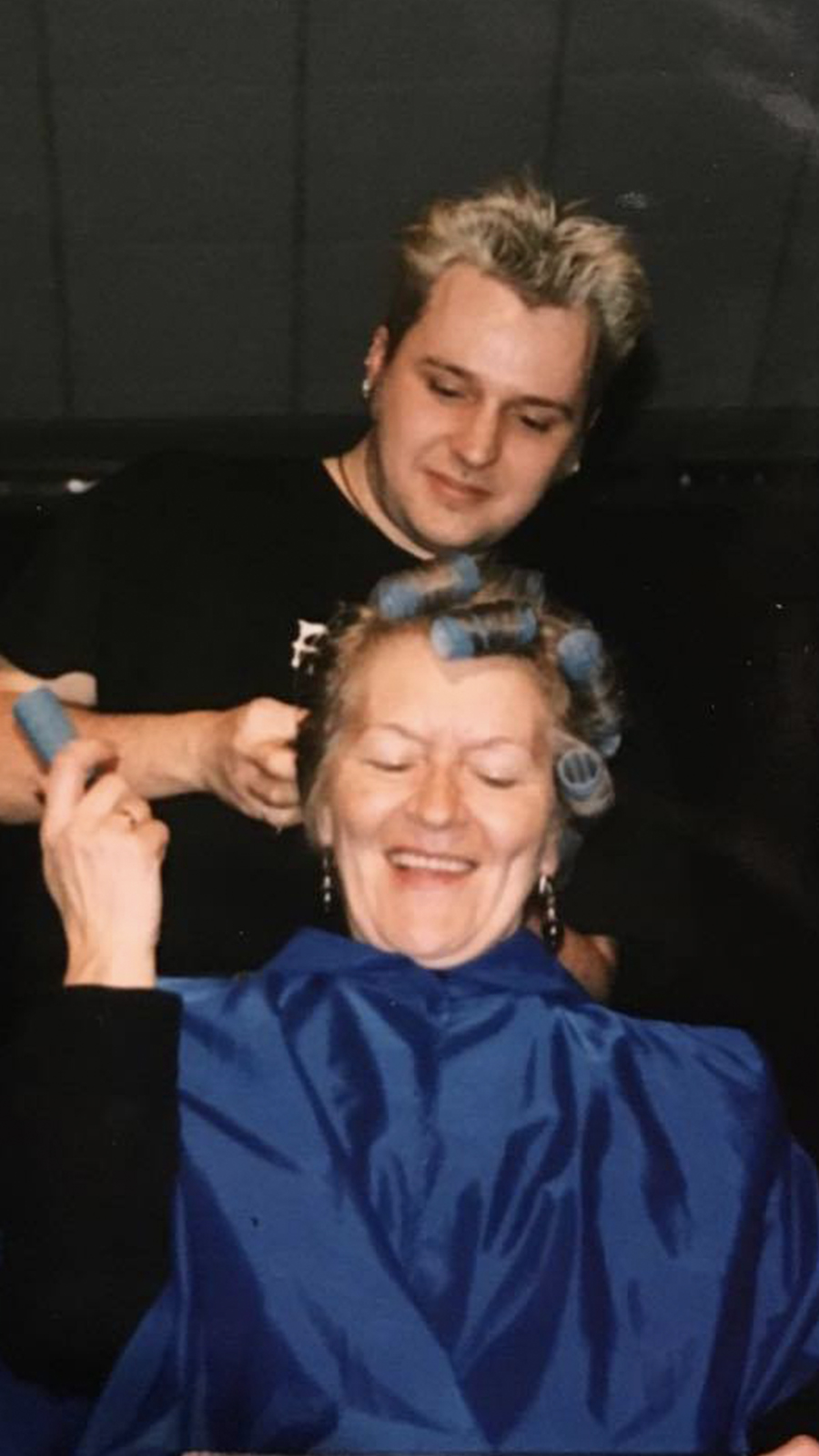 Tony's first hair show, in the 90s