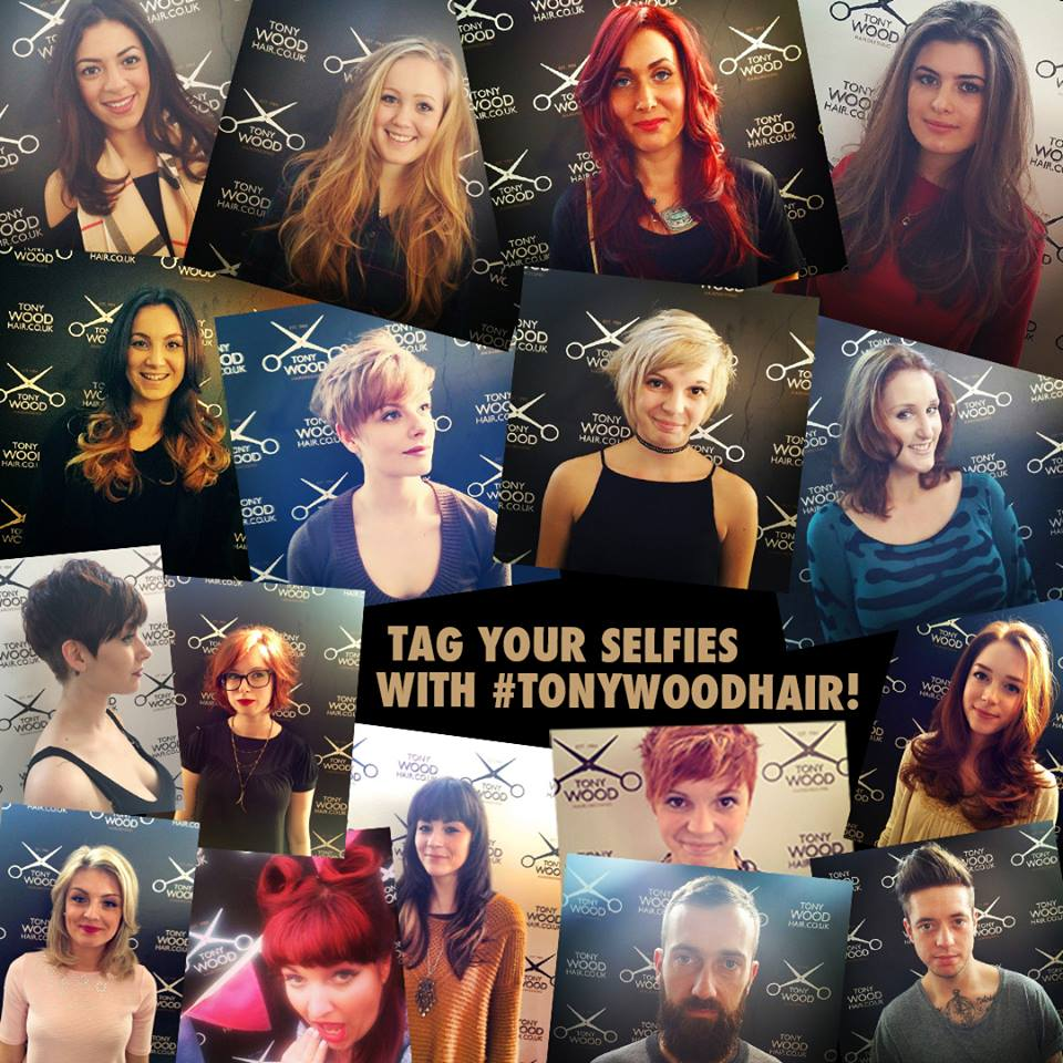 The Tony Wood Hair selfie board