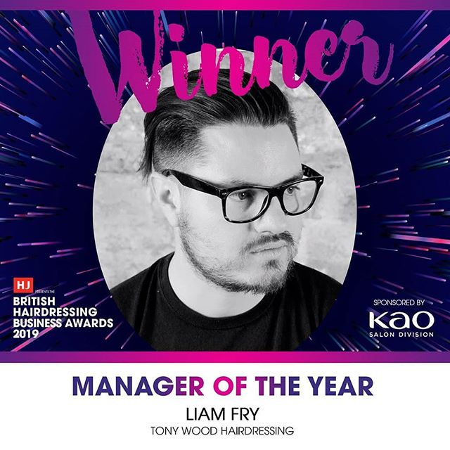 🎉🔥 LIAM FRY, MANAGER OF THE YEAR 2019 🔥🎉 On the cusp of moving from Manager to Director, Liam has scored this tremendous honour at @hairdressersjournal's British Hairdressing Business Awards! No better way to mark the close of one chapter and the start of a new one 🙏 Endless gratitude to the BHBA judges, our team of talented and supportive stylists, and, of course, every client who walks through our clocktower doors 🏆 #BHBA19 • • • #hjloves #bhba #britishhairdressing #goldwelluk #iamgoldwell #portsmouth #southsea #hampshire #hampshiresalon #modernsalon #awards #hairsalon