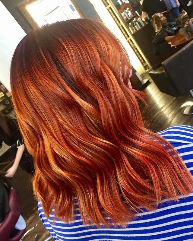 Who's ready for autumn colours?! 😍🍂🍁 Created in the salon by @jaynefreer83 — as always, using @goldwelluk and @kmshairuk's fabulous products ✨ Swipe 👉 for the before! • • • #redhair #orangehair #goldwell #autumn #autumnhair #haircolor #colormania #modernsalon #haircolor #iamgoldwell #hairgoals #licensedtocreate #hairart #kmshair #colorfulhair