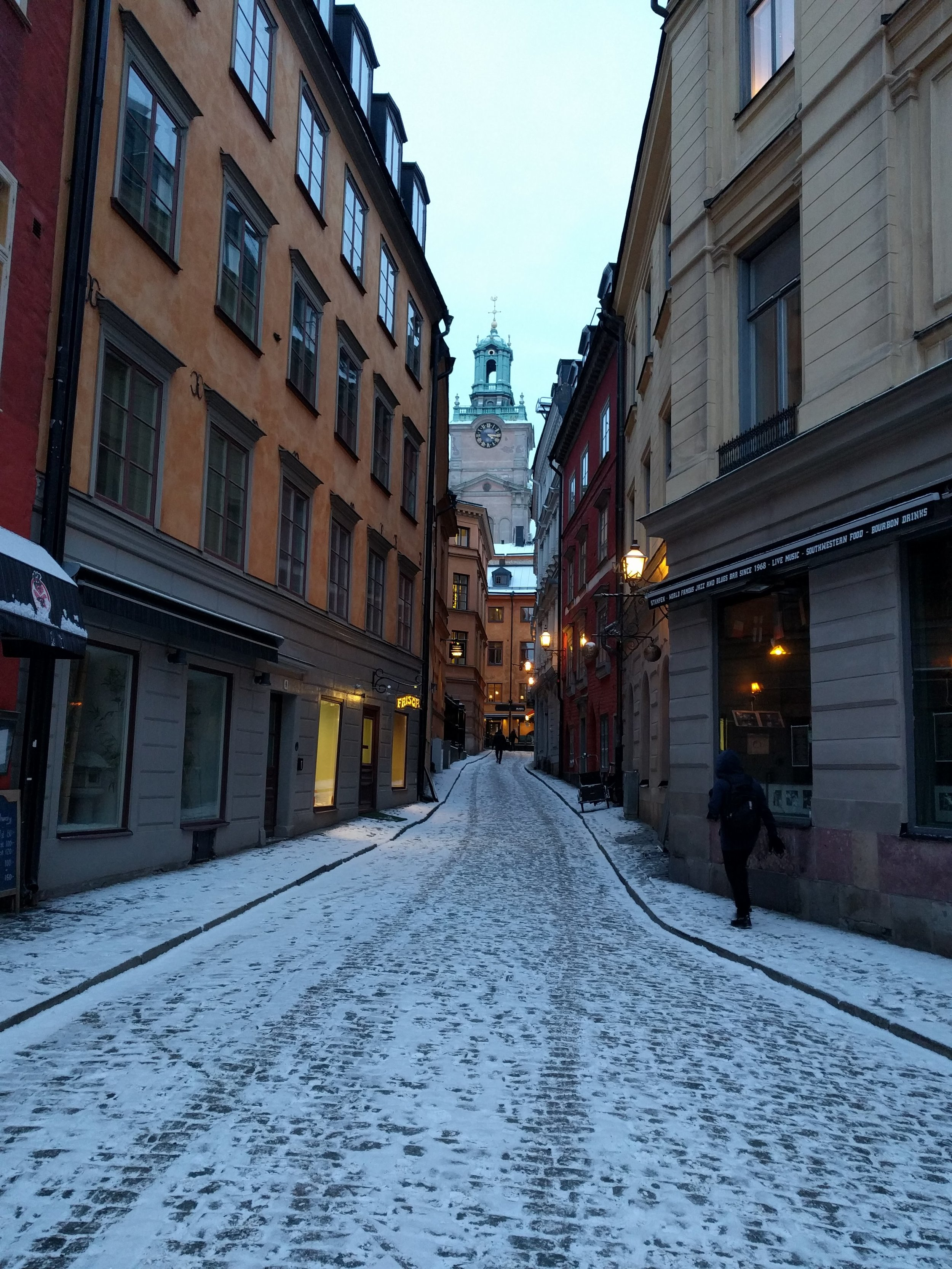 The picturesque architecture we found in the old town dates back to the 13th century and was made even more appealing by a dusting of snow covering the city. -