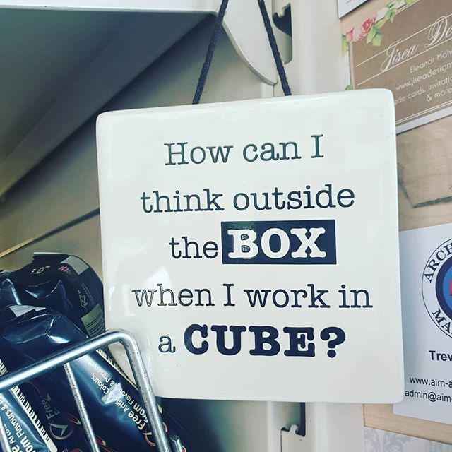 Need to let the team out to play. Truer words have never been said. Get out of the cube! #creativethinking #makingworklive #pushing #boundaries