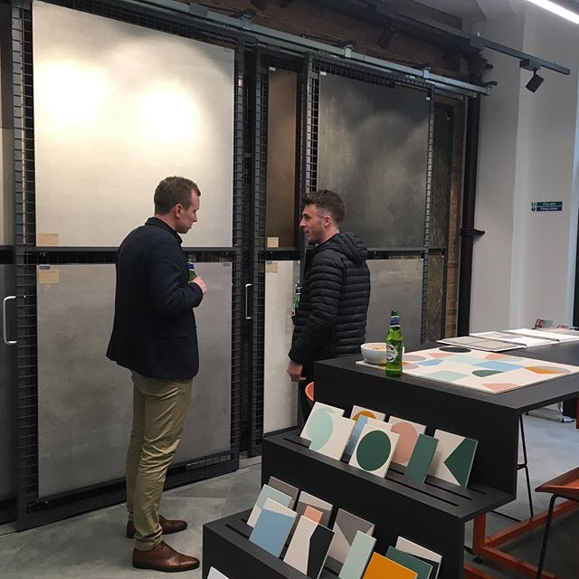 Great to visit @parksideuk new showroom! Looking fab and seen some great products #tiles #encaustictiles #interiordesign #design #workplacedesign #alwayslearning #3e1approves