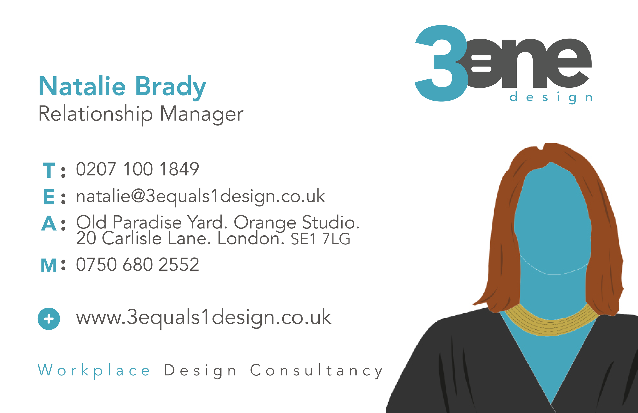 Get in touch with Natalie - Natalie is our Business Development manager. If you have any questions about the content of our first quarterly News Bulletin get in touch with her. You can reach Natalie on 07506 802552 or by email: natalie@3equals1design.co.uk