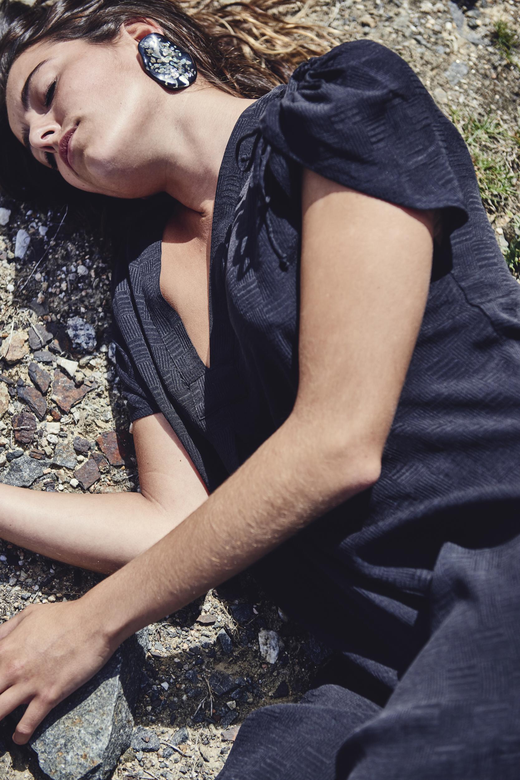 Josh John Photography. Fashion Image. Girl lying down.