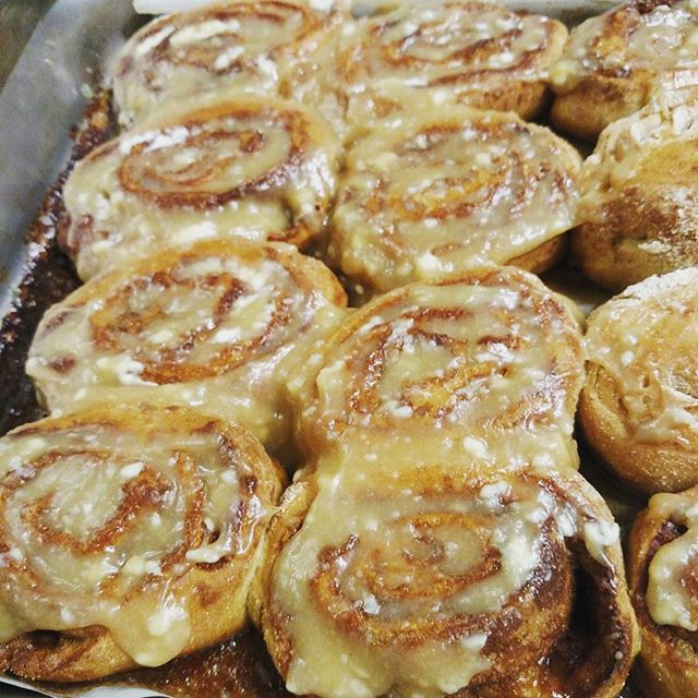 Whole grain cinnamon roll test #foodeveryonedeserves