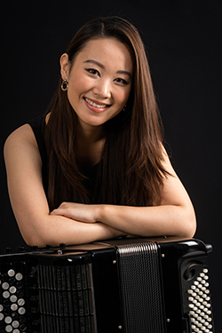 Hanzhi Wang- Accordion Player and Featured Instrumentalist in the 40th season of the Young Concert Artists Series.