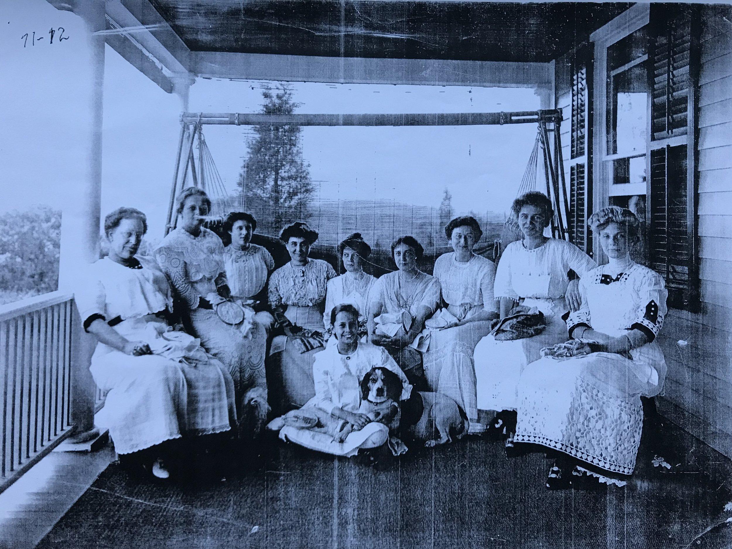 Mrs. Julia Clark Post (far right)