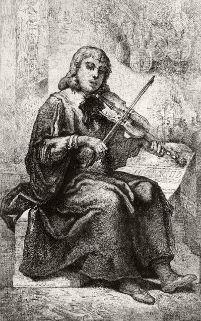 Nicolò Amati (1596-1684) by Jacques-Joseph Lecurieux (1801-1870s)