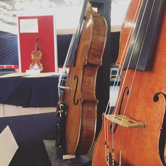 Student violins on display at our end of year exhibition last Thursday 👏🏻