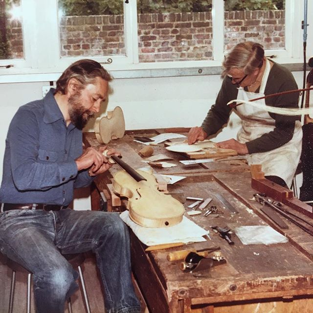 Merton has been running craft courses in instrument repair since 1972, today we dug out some photos from the archive of makers doing their thing at the college in 1982.