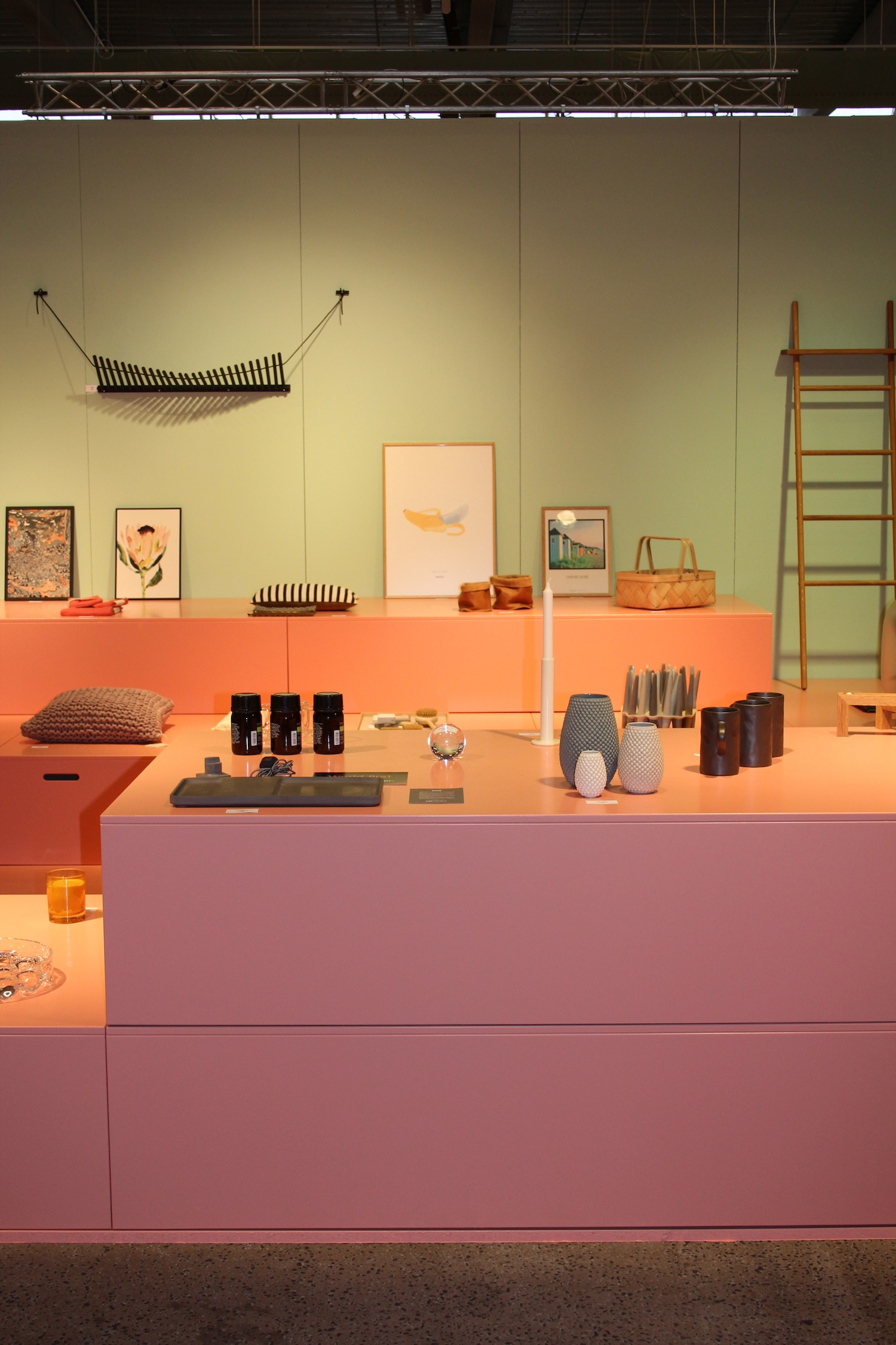 A specifically curated spot, showcasing the Craft/Design hall, including handmade and local design schools.