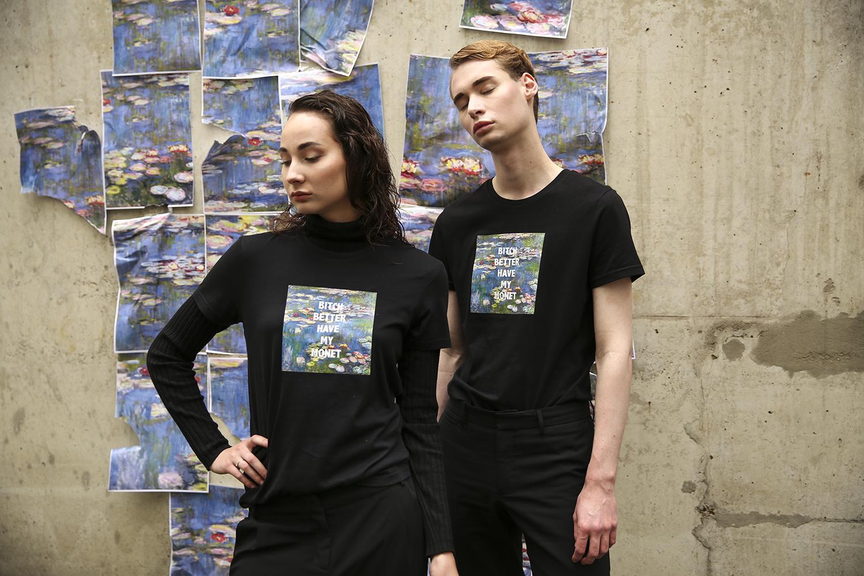 Concept & T-shirt: Marciano Lansu Styling: Janne Model:s Bennet & Sophie