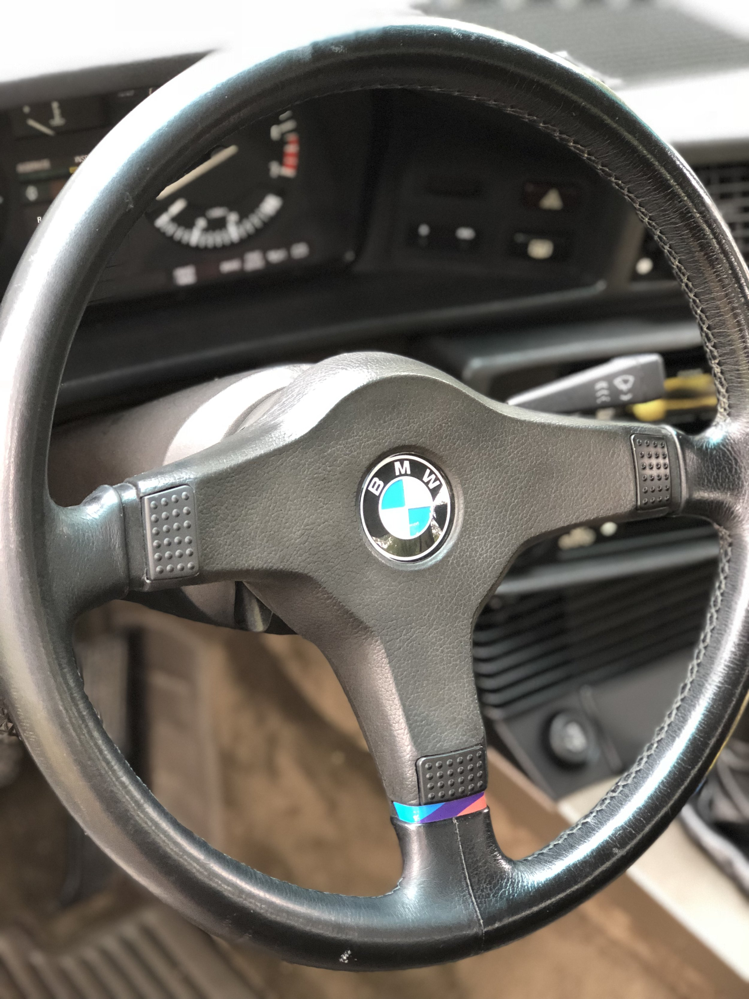 Leather Cleaning On BMW Steering Wheel.JPEG