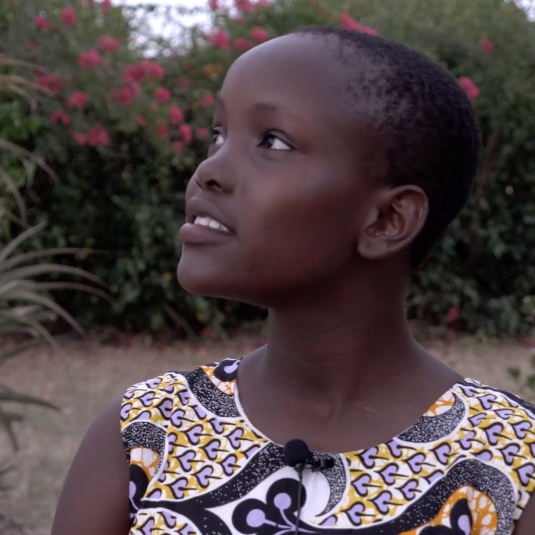 Alice - Location: Kaliang'onbe, Rabai, Eastern KenyaInterests: SingingAspiration: To become a pediatrician and build a hospital to help others.