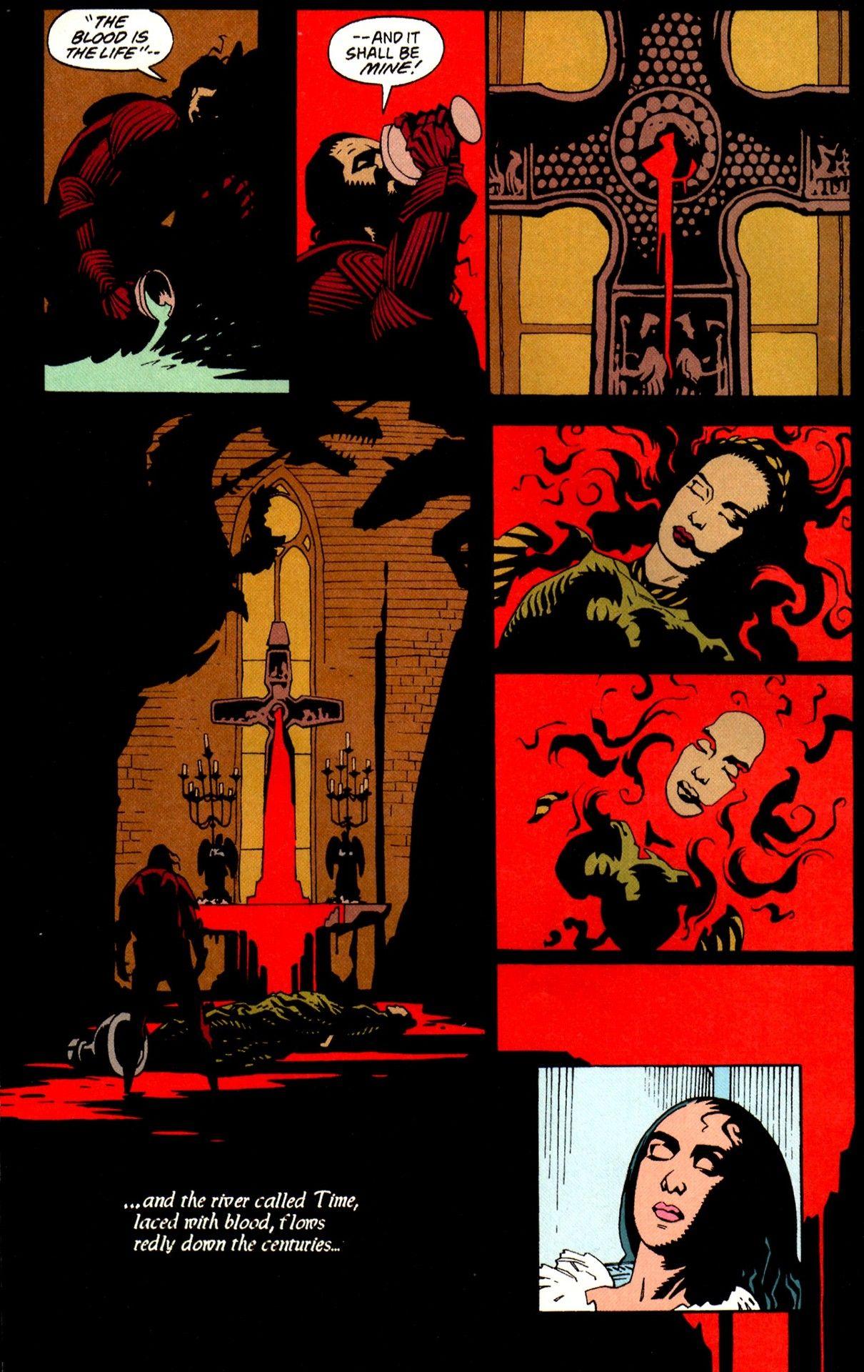 Bram Stoker's Dracula Script by Roy Thomas, art by Mike Mignola, panel 1.jpg