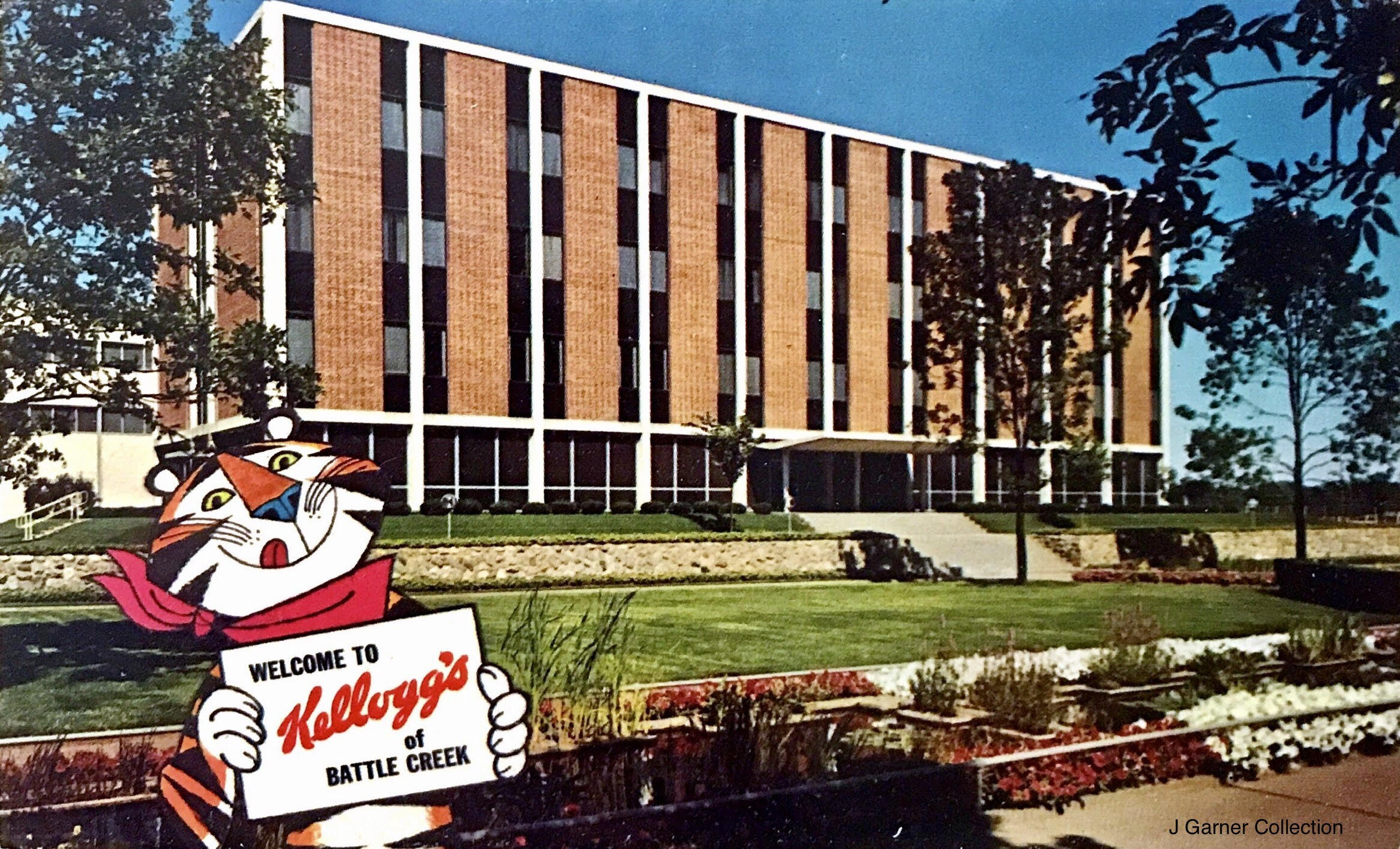 Kellogg Battle Creek Michigan Vintage Postcard
