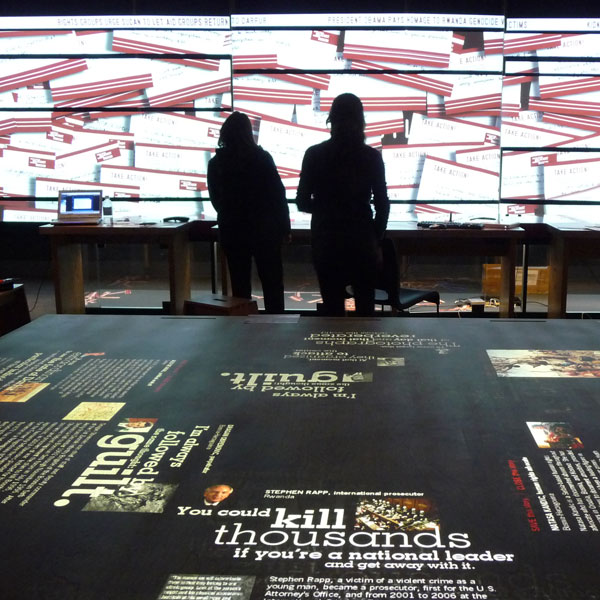 Genocide interactive exhibition