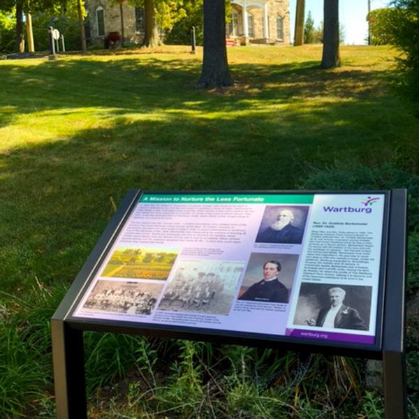 Wartburg 150 anniversary history sign