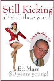 Birthday poster. Man loves the Rockettes!