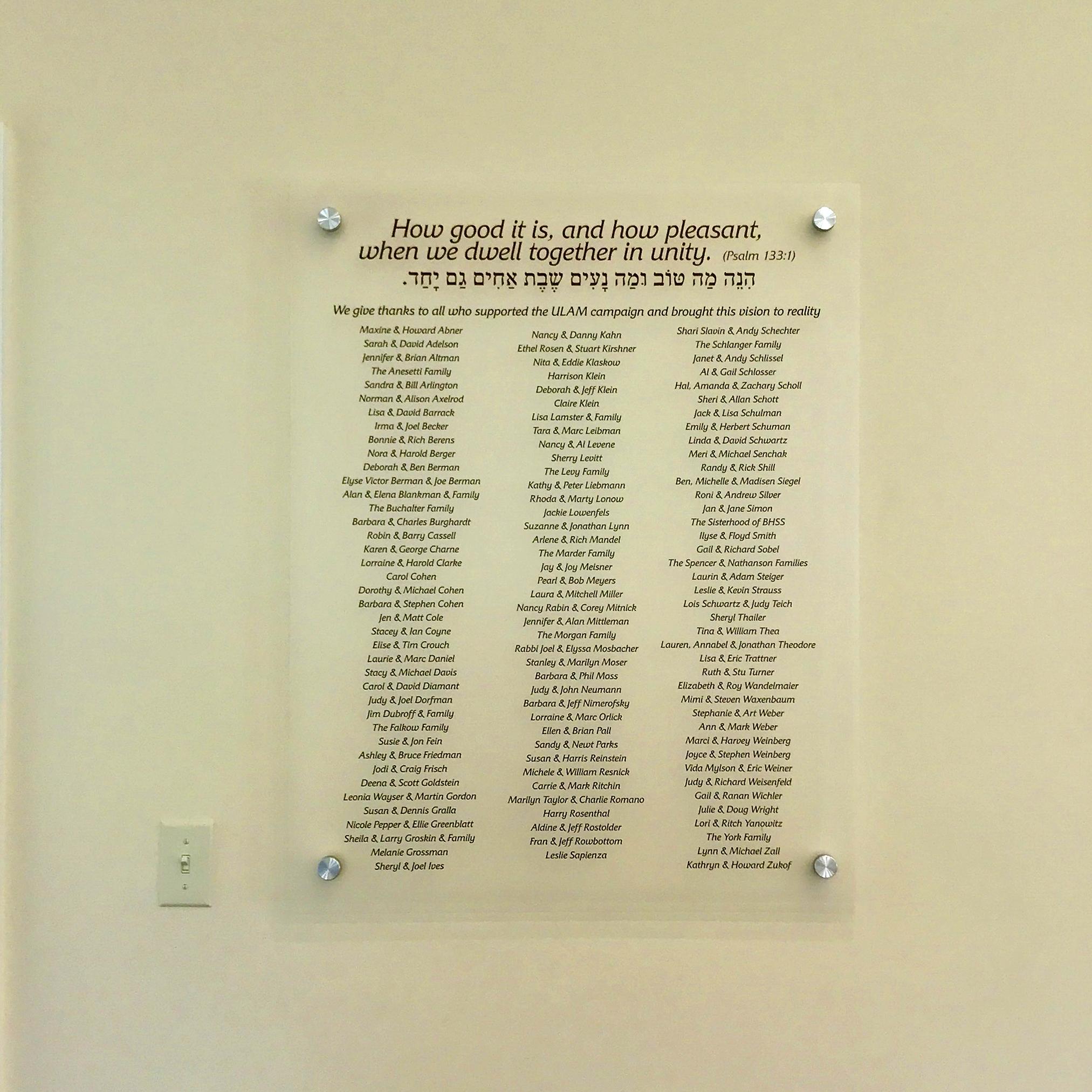 Acrylic Donor Board