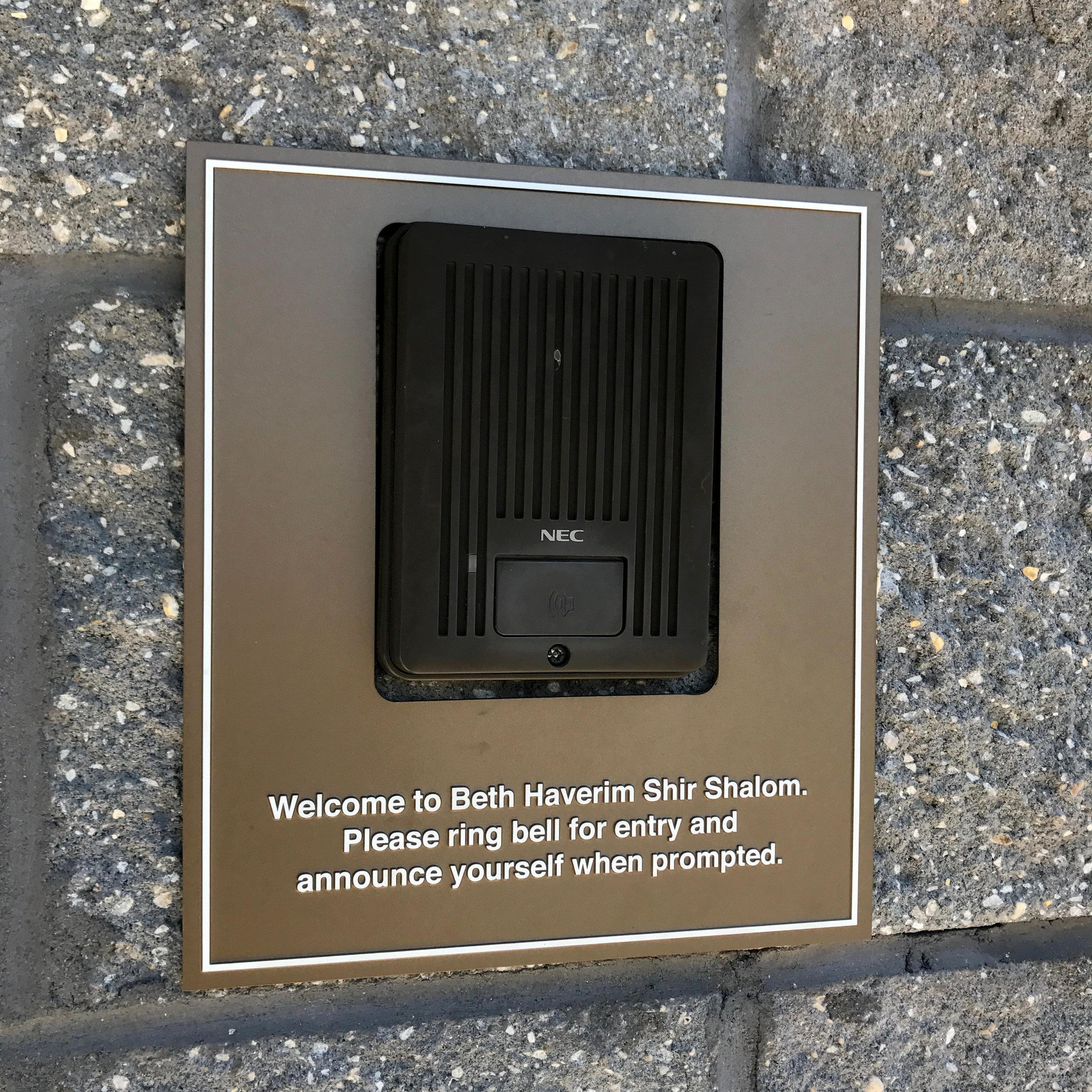 Buzzer plaque