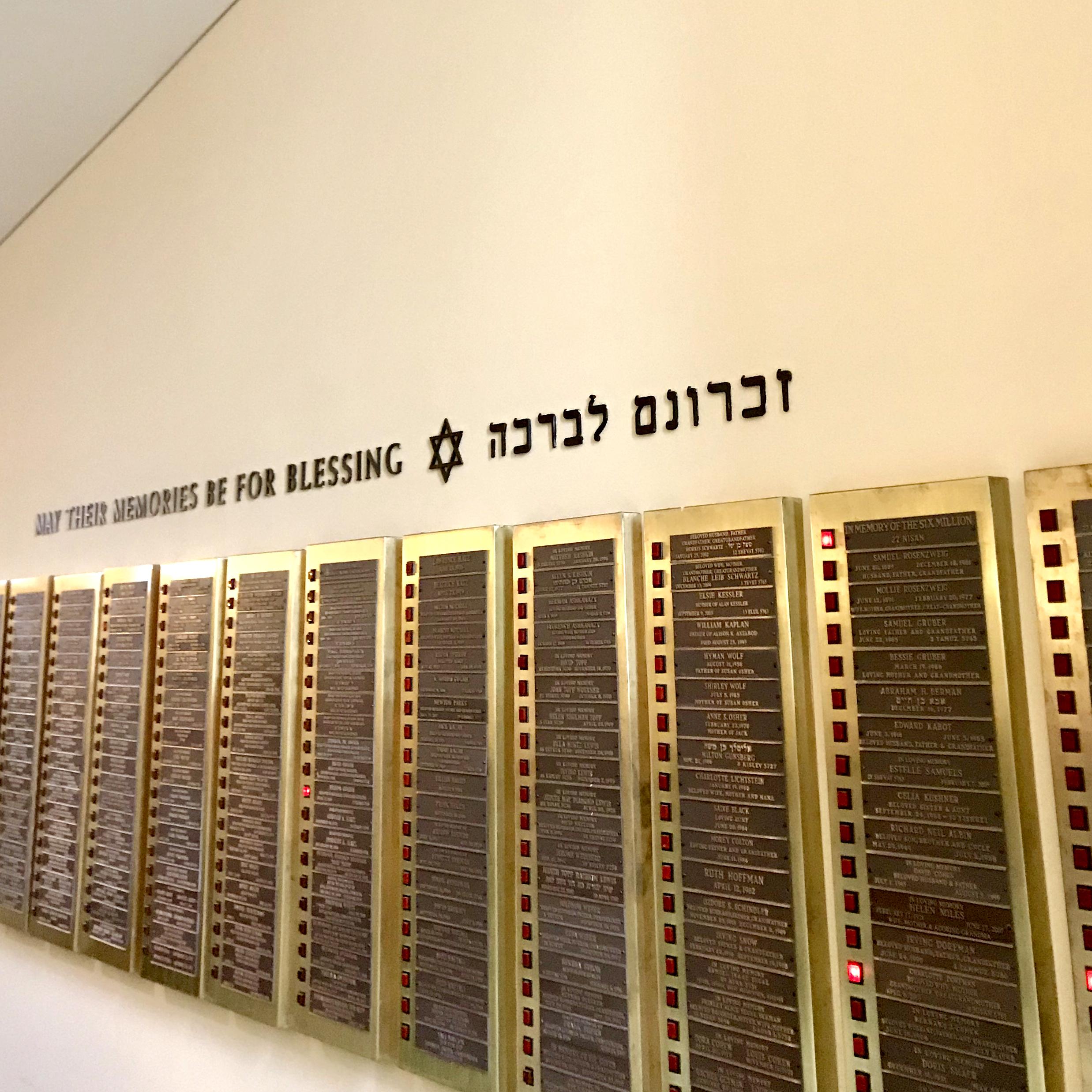 Letters for Yahrzeit Wall