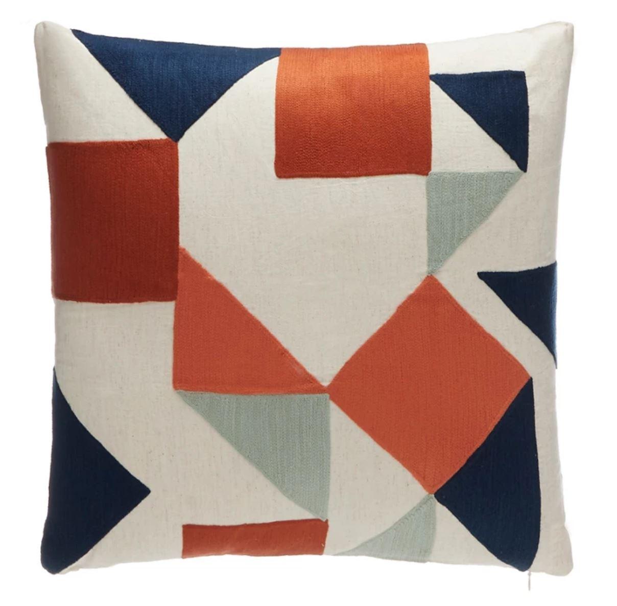 Geometric multicoloured cushion, Debenhans.JPG