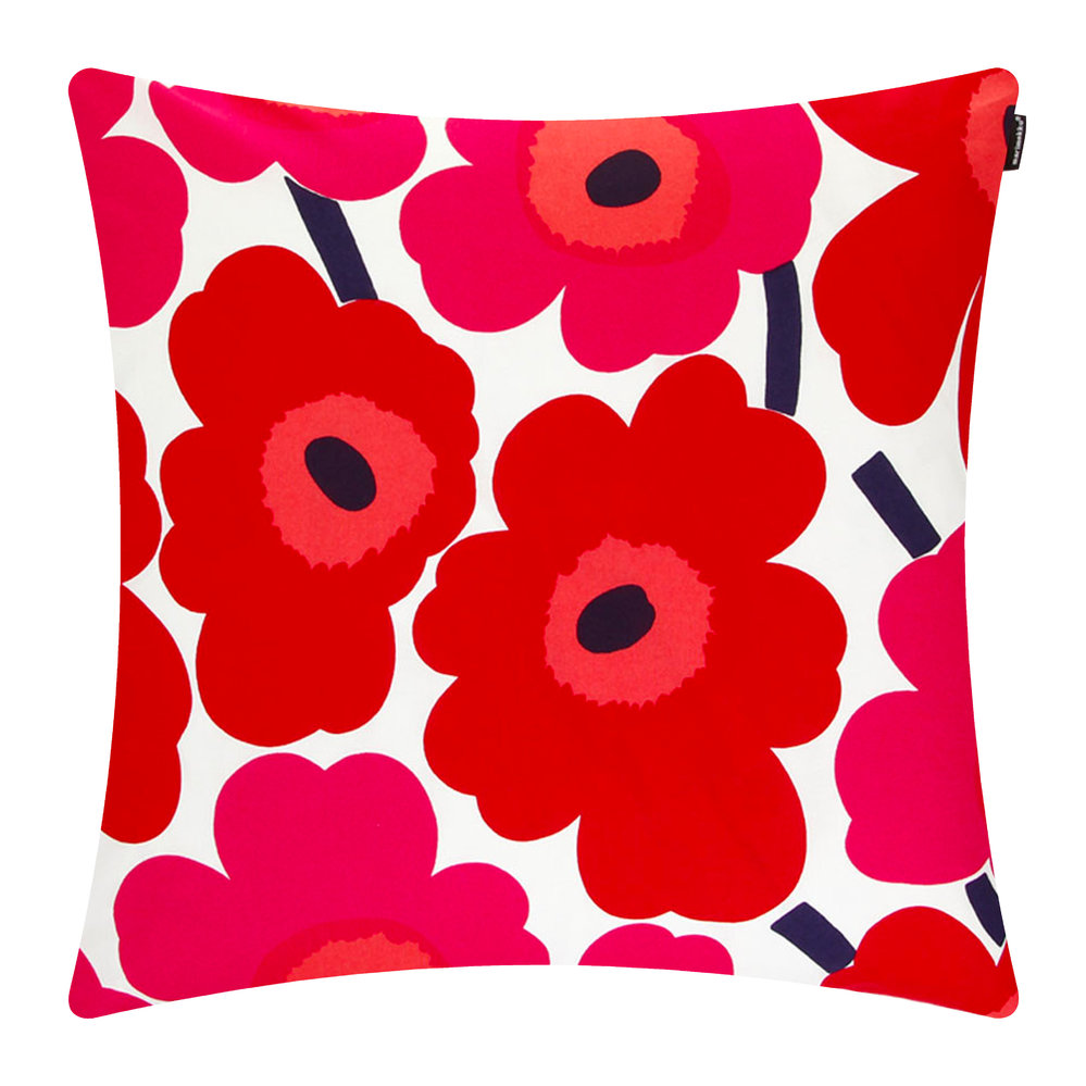 pieni-unikko-red-cushion-cover-50x50cm-108903, marimekko at amara.jpg