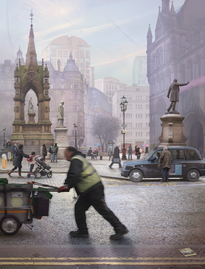 Albert Square, Manchester (after Valette)