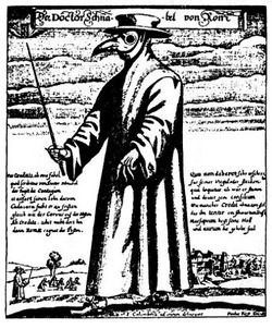 The iconic plague doctor went inside homes to treat victims and sanitise bodies