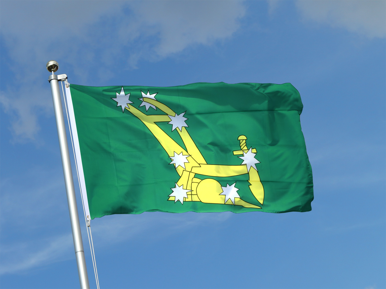 This flag (known as the Plough in the Stars) became a symbol of Irish nationalism and unity