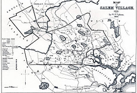 A map of Salem in 1692