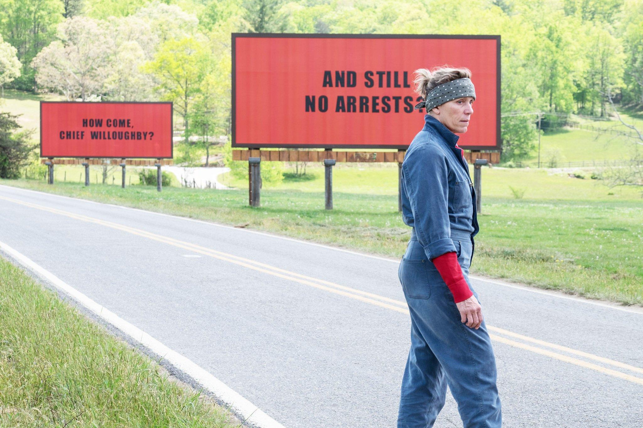 Frances McDormand in Three Billboards Outside Ebbing Missouri