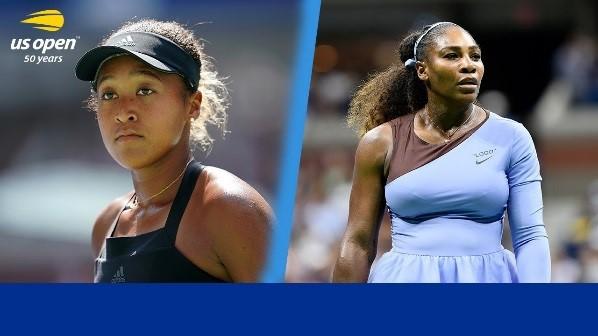 Naomi Osaka (left) and Serena Williams (right)