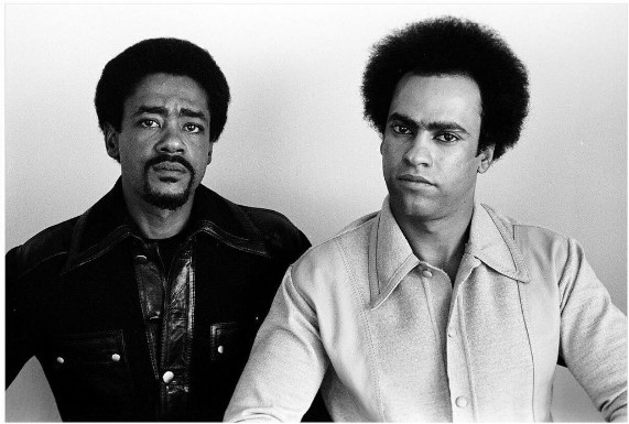 The party founders: Bobby Seale (left) and Huey Newton (right)