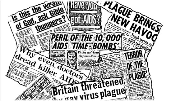 Headlines showing the crass comments on the nature of HIV